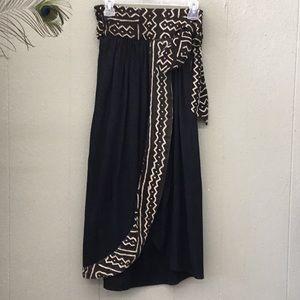 Wrap around skirt with beautiful tribal pattern.
